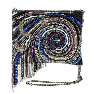 Mary Frances Galactic Glamour Embellished Leather Crossbody Clutch