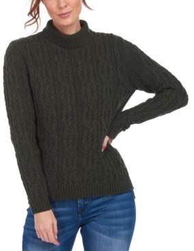 Barbour Burne Cable-Knit Turtleneck Sweater