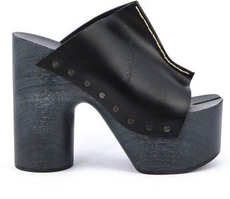 Maison Margiela Black Tabi Clog Heels