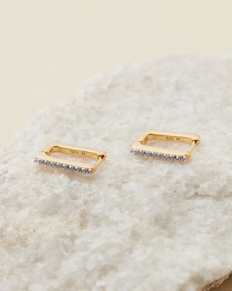 Missoma Gold Pave Ovate Hoops