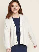 Old Navy Slouchy Shaker-Stitch Button-Front Cardigan for Girls