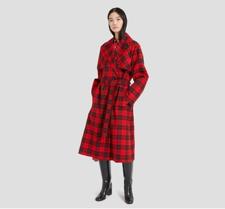 Mulberry Libby Coat Scarlet Tartan Canvas