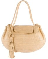 Nancy Gonzalez Crocodile Tassel Tote
