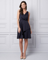 Le Château Satin V-Neck Cocktail Dress