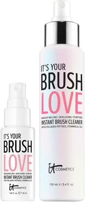 It Cosmetics Brush Love Skin Loving Brush Cleanser Home and Away Duo