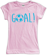 Urban Smalls Light Pink 'Goal!' Fitted Tee - Toddler & Girls