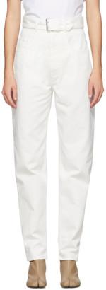 Maison Margiela White Belted Jeans