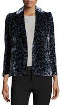 Rebecca Taylor Liane Floral Velvet Blazer