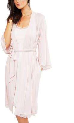 A Pea in the Pod Lace-Trim Nursing Nightgown