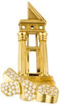Henry Dunay 18K Diamond Column Brooch