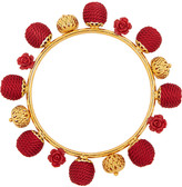 Dolce & Gabbana Gold-plated, resin and woven bangle
