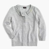 J.Crew Girls' jewel-collar cashmere cardigan sweater