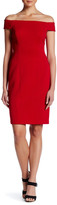 Adrianna Papell Off-the-Shoulder Sheath Dress
