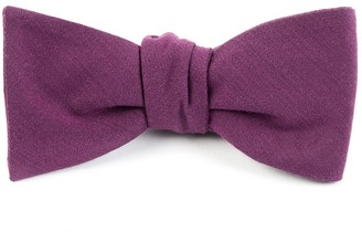 The Tie Bar Solid Wool Wine Bow Tie