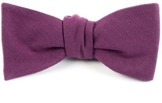 Tie Bar Solid Wool Wine Bow Tie