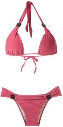 Adriana Degreas Applique Triangle Bikini Set