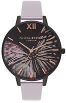 Olivia Burton Women's After Dark Butterfly Leather Strap Watch, 38Mm