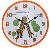 Child Nursery Animal Wall Clock for Kids Room - SILENT Ticking - 10 Inch - Giraffe Wall Clcok - Children Clocks- Child Bedroom Décor Ideas/ Baby Shower Gifts for Boys/Girls (Mommy & Me Giraffe)