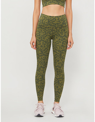 Varley Luna snake-print high-rise stretch-jersey leggings