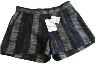 Stella Forest Blue Tweed Shorts for Women
