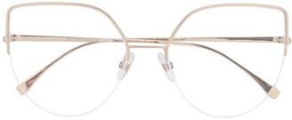Fendi Eyewear Oversized Aviator-Frame Glasses