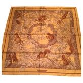 Hermes silk scarf Casse Noisette