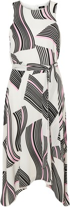 Wallis Cream Graphic Swirl Midi Dress