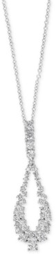 "Effy Diamond Loop 18"" Pendant Necklace (1-1/20 ct. t.w.) in 14k White Gold"