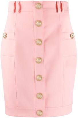 Balmain Short Single-Breasted Skirt