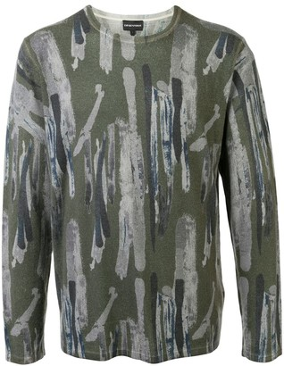 Emporio Armani Abstract Print Jumper