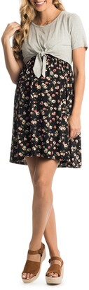 Everly Grey Lehua Maternity/Nursing Babydoll Dress