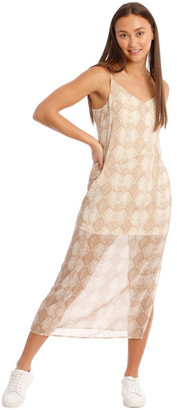 Milk and Honey Snakeskin Print Midi Dress
