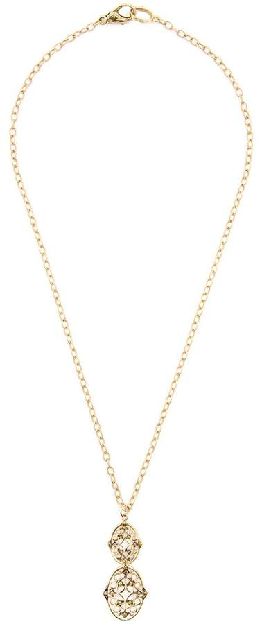 Loree Rodkin double lacey oval diamond necklace