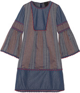 Anna Sui Crochet-trimmed Embroidered Cotton Mini Dress