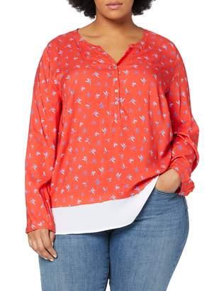 Ulla Popken Women's Tunika Mit Minimalprint Und Doppellagigem Saum Groe Groen T-Shirt