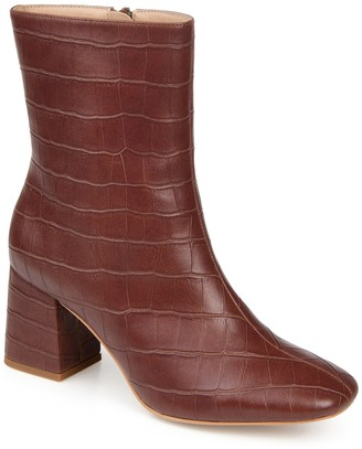 Journee Collection Trevi Croc Embossed Boot