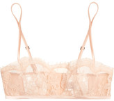 La Perla Lace Story Leavers Lace And Satin Soft-cup Bra - Blush