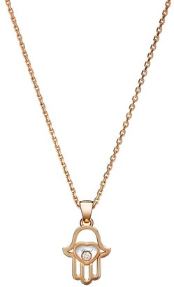 Chopard Happy Diamonds Hamsa Hand Diamond & 18K Rose Gold Pendant Necklace