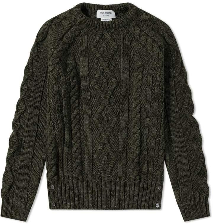 Thom Browne Classic Aran Crew Knit