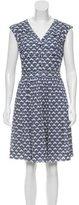 Tory Burch Abstract Print Knee-Length Dress