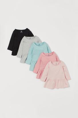 H&M 5-pack Cotton Dresses - Pink