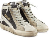 Golden Goose Deluxe Brand Slide High-Top Sneakers with Suede and Leather