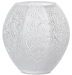 Lalique Sakura Clear Vase, Small