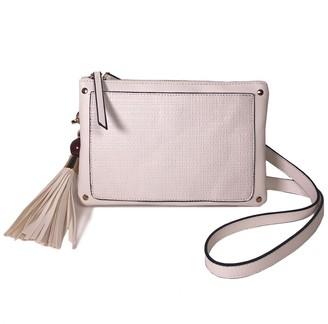 Violet Ray Tassel Woven Faux Leather Crossbody Bag