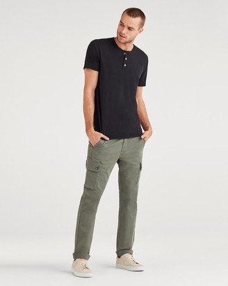 7 For All Mankind Total Twill Slim Taper Adrien Cargo Pant in Faded Spruce Clean