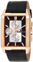 Pierre Petit Men's P-780B Serie Paris Rose-Gold PVD Rectangular Case Chronograph Watch