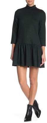 J.o.a. Mock Neck Knit Shift Dress