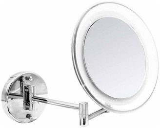 BELLA by AGM Home Store Jasmin Wall Mounted Cosmetic LED Lighted Magnifying 10X Mirror, Polish