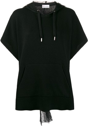 RED Valentino Point D'esprit Hood Jumper