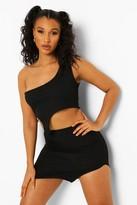 Thumbnail for your product : boohoo Bandage Split Hem Mini Skirt